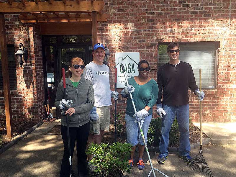 CICCAR volunteers give the CASA office and surrounding apartments a spring cleaning
