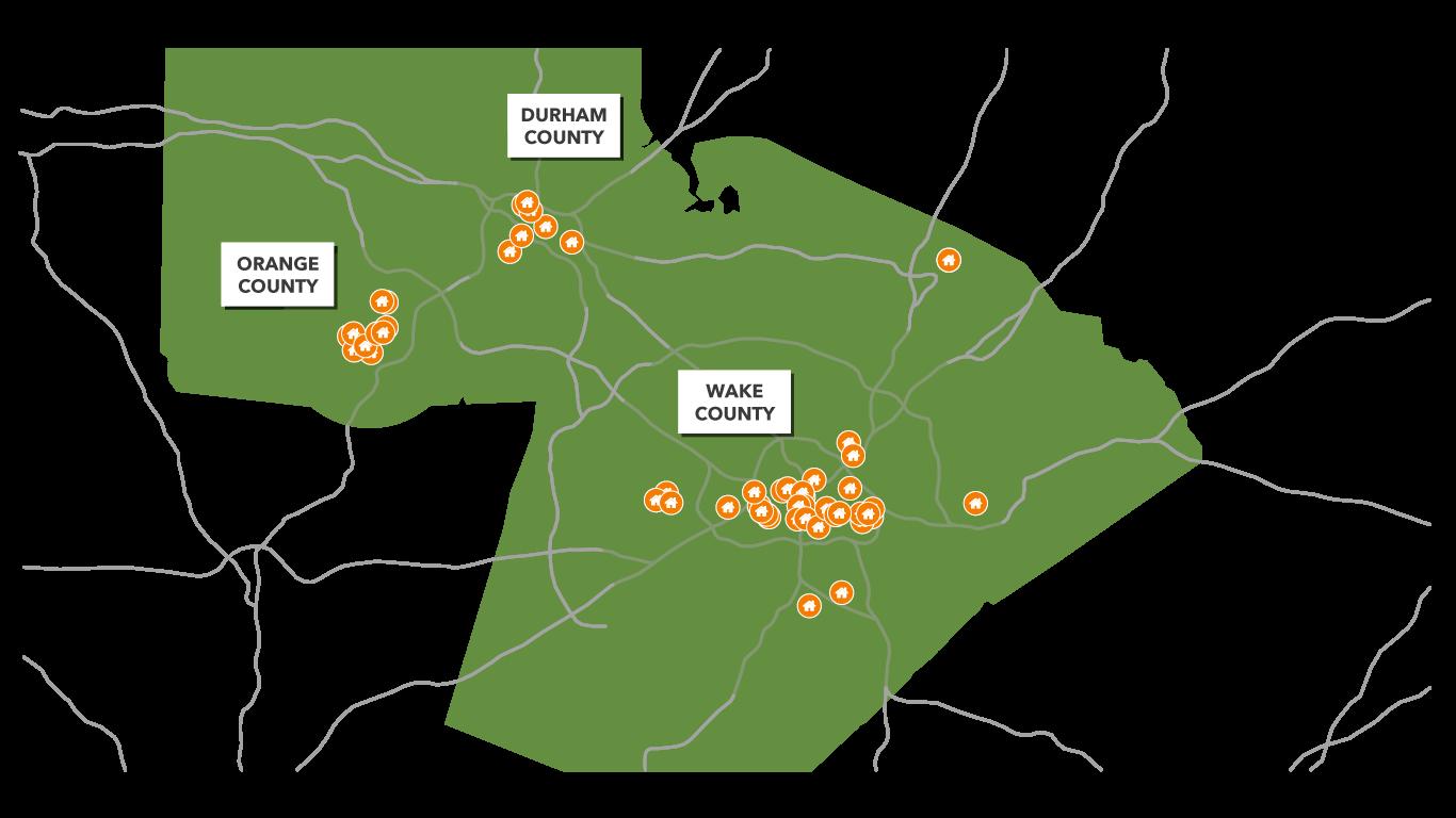 Our Properties | CASA's Reach | Raleigh, NC