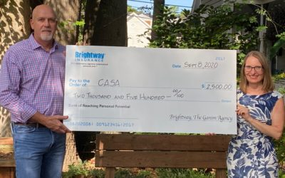 Brightway, The Ganim Agency in Raleigh donates $2,500 to CASA