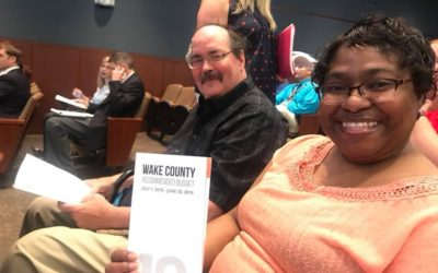 CASA Tenants speak at Wake County Commissioners Budget Hearings